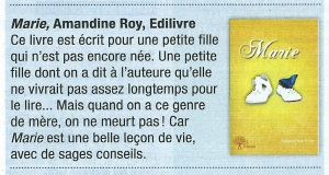 Article Marie du magazine Horoscope de mai 2014